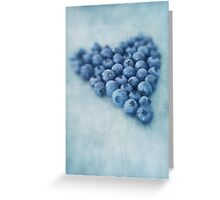 I love blueberries Greeting Card