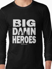 Big Damn Heroes White Long Sleeve T-Shirt