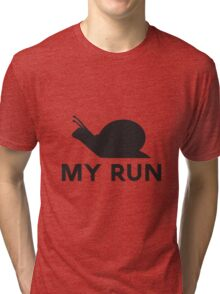 Snail Run Tri-blend T-Shirt