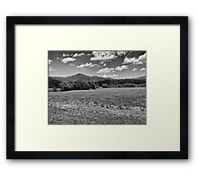 Fields and Mountains - #2 Redux Framed Print