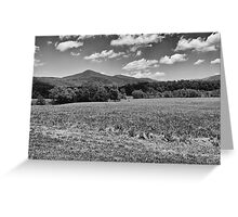 Fields and Mountains - #2 Redux Greeting Card