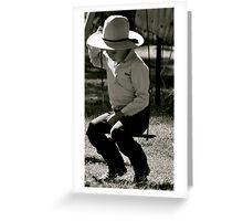 Even cowboys get the blues Greeting Card