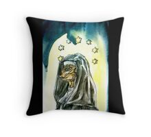 Reptilian Nun Throw Pillow