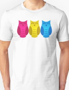 Happy Pansexual Pride Owls T-Shirt