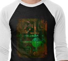 Midnight In Vector 5  Men's Baseball ¾ T-Shirt
