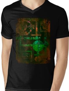 Midnight In Vector 5  Mens V-Neck T-Shirt