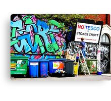 The riot act Canvas Print