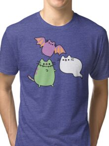Kawaii Cat Monsters Tri-blend T-Shirt