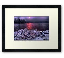 Big Lake Snow Storm Framed Print