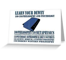 Learn your Dewey 100 Greeting Card