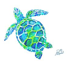 Sea Turtle no splots by Jan Marvin by Jan Marvin