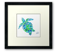 Sea Turtle no splots by Jan Marvin Framed Print