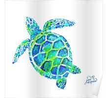 Sea Turtle no splots by Jan Marvin Poster