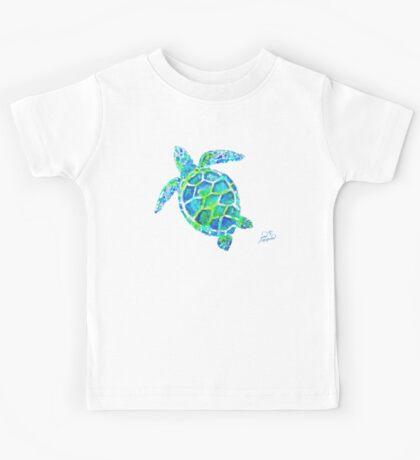 Sea Turtle no splots by Jan Marvin Kids Tee