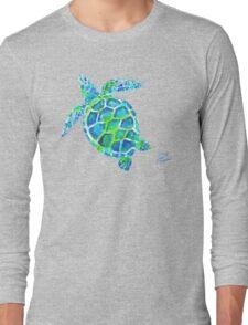 Sea Turtle no splots by Jan Marvin Long Sleeve T-Shirt