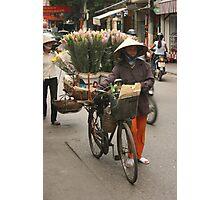flower sellers | Hanoi Vietnam Photographic Print