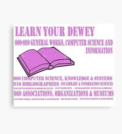 Learn your Dewey 000 Canvas Print
