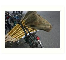 Broom Sweeps | Hanoi, Vietnam Art Print