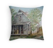 The old Judge fink store Throw Pillow