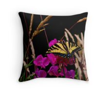 The Big Coverup  ~ Western Tiger Swallowtail Butterfly ~ Throw Pillow
