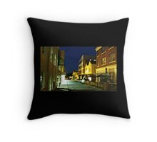 Asheville at night Throw Pillow