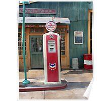 Disneyland Gas Station Pump Poster