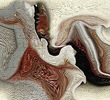 ABSTRACT ..SILLY LITTLE HORSE AND MUSHROOM by Sherri     Nicholas