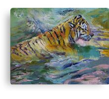 Tiger Reflections Canvas Print