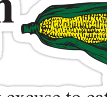 Corn - A great excuse to eat Butter Sticker