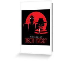 The Murders of Jason and Freddy Greeting Card