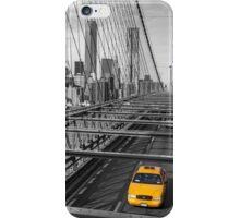Cab on Brooklyn Bridge iPhone Case/Skin