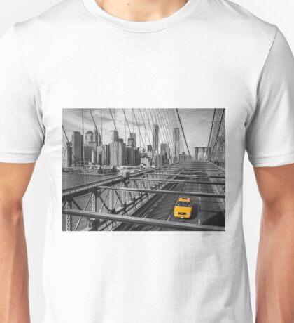 Cab on Brooklyn Bridge Unisex T-Shirt