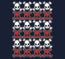 Skully: white & red Kids Clothes