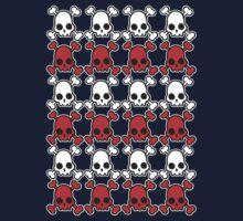 Skully: white & red Kids Tee