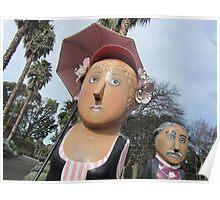 Geelong Botanic Gardens first Curator, Daniel Bunce & his lady friend Poster