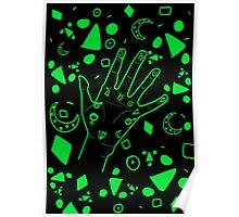 Palmistry- Black & Green Poster