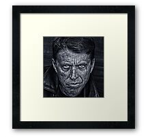 Rough Man Framed Print