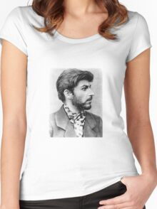Historical Hipsters - Joseph Stalin Women's Fitted Scoop T-Shirt