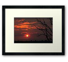 Sunset (polder in The Netherlands) Framed Print