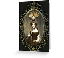 Steampunk Civil War Portrait: Adelaide Greeting Card
