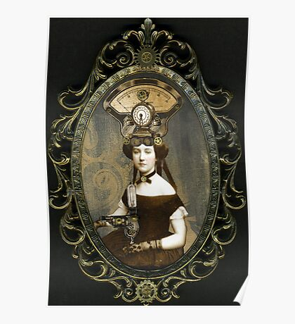 Steampunk Civil War Portrait: Adelaide Poster