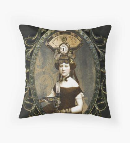 Steampunk Civil War Portrait: Adelaide Throw Pillow