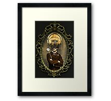 Steampunk Civil War Portrait: Silas Framed Print