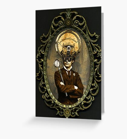 Steampunk Civil War Portrait: Silas Greeting Card