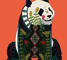 panda orange by Sharon Turner