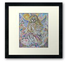 Yumi Sugai.Archangel Raphael. Framed Print