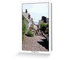 Clovelly, Devon Greeting Card