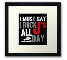 Rock JS All Day Cords Framed Print