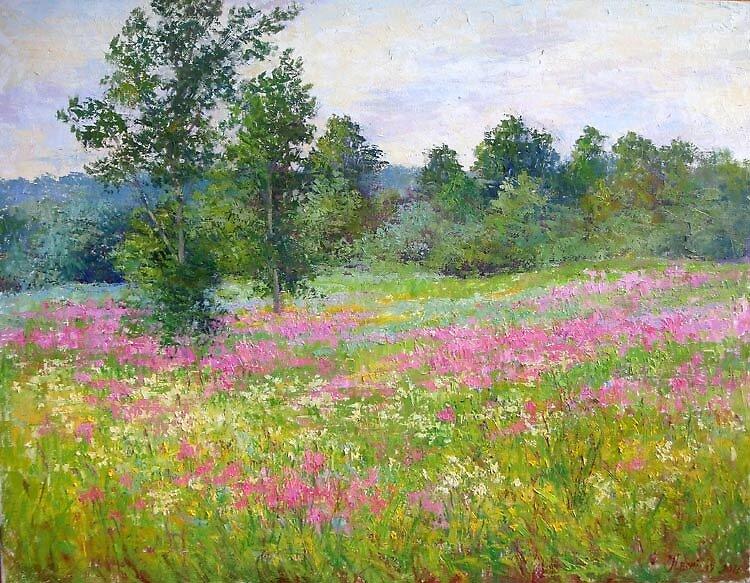 Purple field by Julia Lesnichy