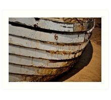 Boat curves Art Print